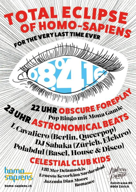 Totale Eclipse Homo-Sapiens Amboss Rampe Zürich LCavaliero