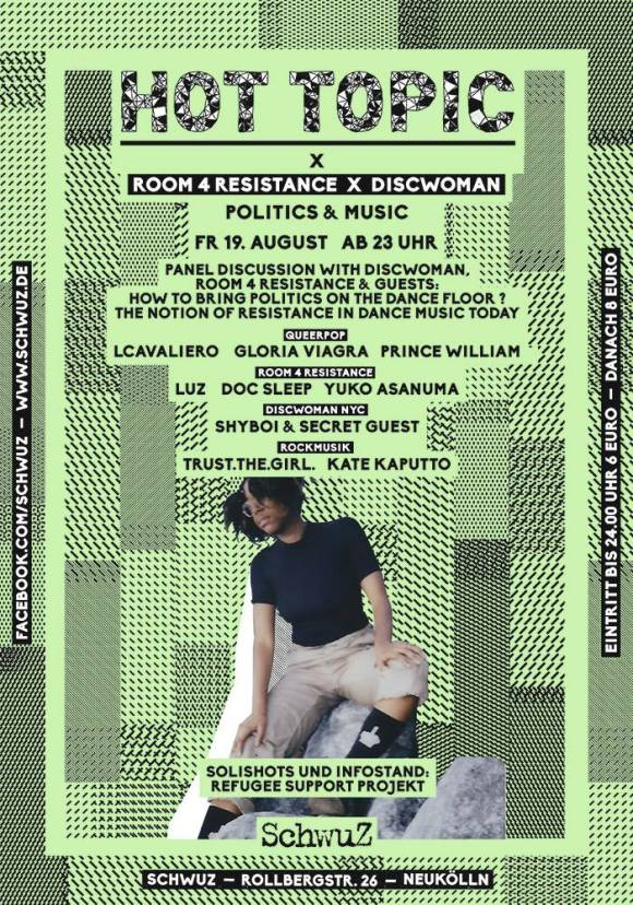 LCavaliero SchwuZ HOT TOPIC Discwoman Room for Resistance