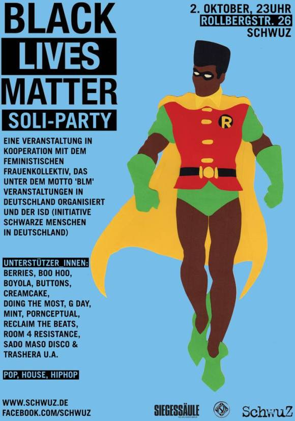 Black Lives Matter Soli-Party SchwuZ LCavaliero